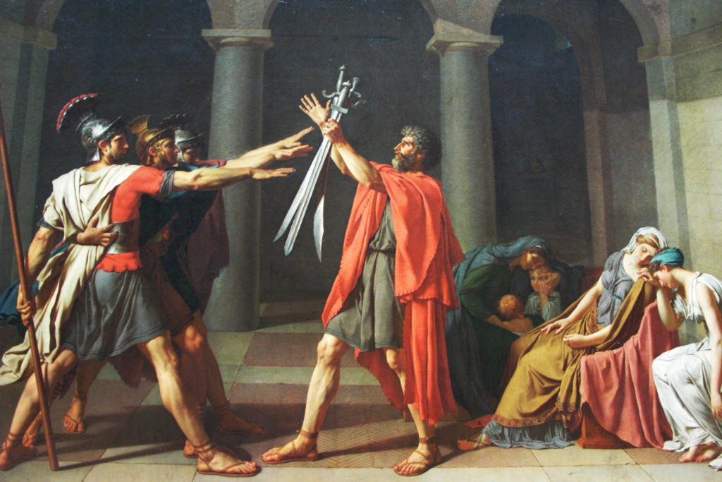 The Oath of the Horatii by Jaques-Louis David